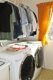 De ruimte van de wasserij Stock Foto's