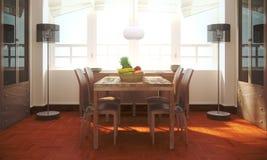 De ruimte van Dinning Royalty-vrije Stock Afbeeldingen