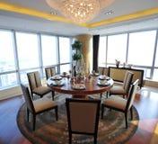 De ruimte van Dinning in een flat Royalty-vrije Stock Afbeelding