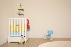 De ruimte van het jonge geitjesspel met bed Royalty-vrije Stock Fotografie