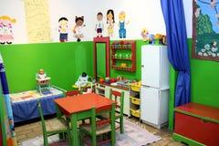 De ruimte van het kinderdagverblijfspel Stock Foto's