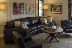 De ruimte van het modelwoningvermaak, Californië Royalty-vrije Stock Afbeeldingen