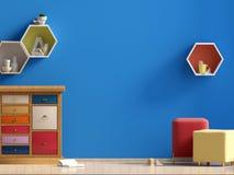 De ruimte van het pastelkleurkind ` s speelkamer Moderne stijl stock illustratie