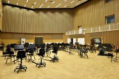 De ruimte van de symfonierepetitie stock foto's