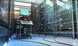 De ruimte van Techno Stock Foto