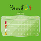 De Ruimte van voetbalteam player charts editable with voor Tekst Royalty-vrije Stock Foto's