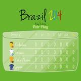 De Ruimte van voetbalteam player charts editable with voor Tekst Stock Fotografie
