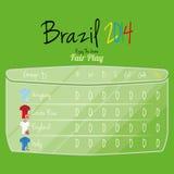 De Ruimte van voetbalteam player charts editable with voor Tekst Royalty-vrije Stock Fotografie