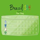 De Ruimte van voetbalteam player charts editable with voor Tekst Stock Afbeelding
