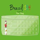 De Ruimte van voetbalteam player charts editable with voor Tekst Stock Afbeeldingen