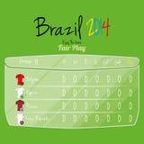 De Ruimte van voetbalteam player charts editable with voor Tekst Royalty-vrije Stock Foto