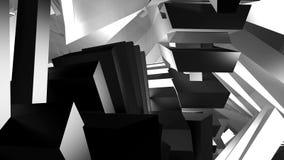 De ruimte wordt gevuld met geometrische vormen Royalty-vrije Stock Afbeelding