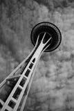 De Ruimte Zwart-witte Naald van Seattle Stock Afbeelding