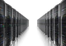 De ruimtebinnenland van de server Stock Afbeeldingen