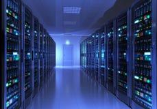 De ruimtebinnenland van de server Stock Foto's
