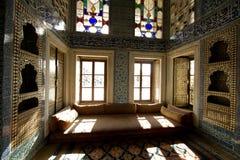 De ruimtedetails van de Sultan van Turkije binnen het paleis van Istanboel Stock Afbeeldingen