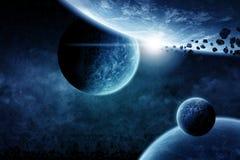 De ruimteillustratie van de planeet royalty-vrije illustratie