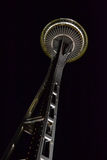 De Ruimtenaald van Seattle bij Nacht, Seattle, Washington Royalty-vrije Stock Afbeelding