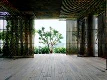 De ruimteruimte van de bamboemuur Stock Afbeeldingen