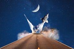 De ruimtevaart van de sterrenroute toerisme stock illustratie