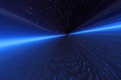 De ruimtevlieg van de nacht Stock Foto's