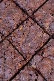 De ruit sneed knapperige brownie Stock Foto's