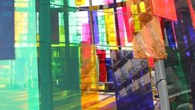 De ruiten van de het perspectiefkleur van Madrid stock footage