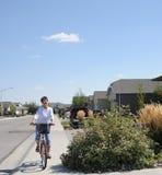 De ruiter van de fiets Royalty-vrije Stock Afbeeldingen