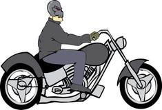 De Ruiter van de fiets met de Helm van de Schedel Royalty-vrije Stock Afbeelding