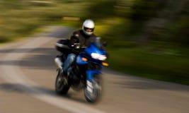 De ruiter van de motorfiets stock fotografie