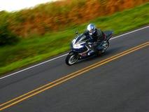 De ruiter van de motorfiets stock foto's