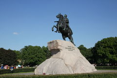 De ruiter van het Koper Een monument aan Tsaar Peter I St Petersburg Stock Fotografie
