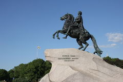 De ruiter van het Koper Een monument aan Tsaar Peter I St Petersburg Royalty-vrije Stock Foto