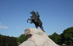 De ruiter van het Koper Een monument aan Tsaar Peter I St Petersburg Royalty-vrije Stock Afbeeldingen