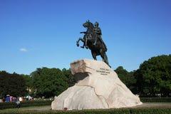 De ruiter van het Koper Een monument aan Tsaar Peter I St Petersburg Stock Afbeelding