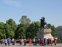 De ruiter van het Koper Een monument aan Tsaar Peter I St Petersburg Stock Afbeeldingen