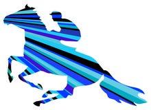 De ruiter van het paard vector illustratie