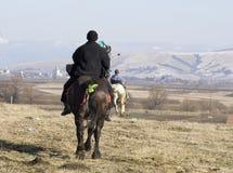 De ruiter van het paard Stock Fotografie