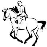 De ruiter van het paard royalty-vrije illustratie