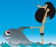De ruiter van vissen Stock Foto