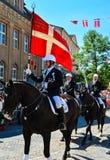 De ruiters paraderen, Sonderborg, Denemarken (3) stock foto's
