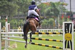 2015 de ruiterspelen van Taiwan (het springen) Stock Afbeeldingen