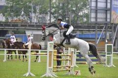 2015 de ruiterspelen van Taiwan (het springen) Stock Afbeelding