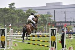 2015 de ruiterspelen van Taiwan (het springen) Stock Fotografie