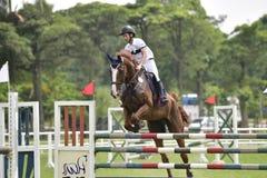 2015 de ruiterspelen van Taiwan (het springen) Royalty-vrije Stock Fotografie