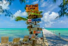 De rum punt-voorziet van wegwijzers royalty-vrije stock fotografie
