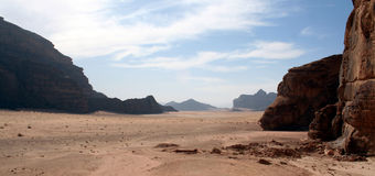 Wadi Rum, Jordanië. Stock Foto