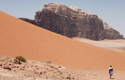 De Rum van de wadi, Jordanië Royalty-vrije Stock Fotografie