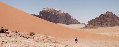 De Rum van de wadi, Jordanië Stock Foto