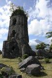 De ruïnes van Cagsawa Stock Fotografie